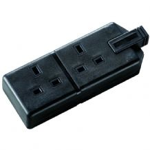 13 Amp Black Two Gang Heavy Duty Socket
